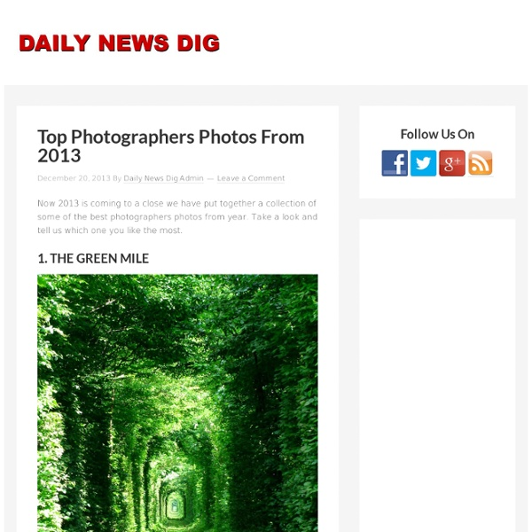 Top Photographers Photos From 2013