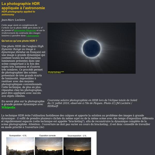 La photographie HDR appliquée aux images d'astronomie