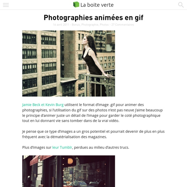 Photographies animées en gif