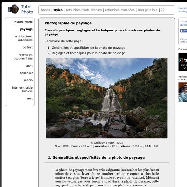 Photographies de paysages, nature - conseils pratiques pour réussir ses photos