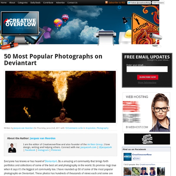 50 Most Popular Photographs on Deviantart