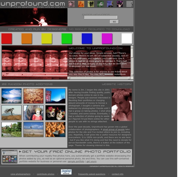 Unprofound.com : royalty free photography project - a public domain stock photo collaboration