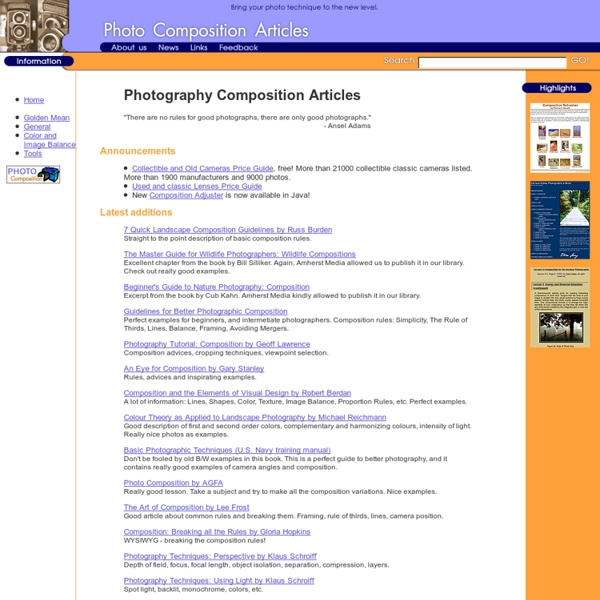 Photography Composition Articles Library