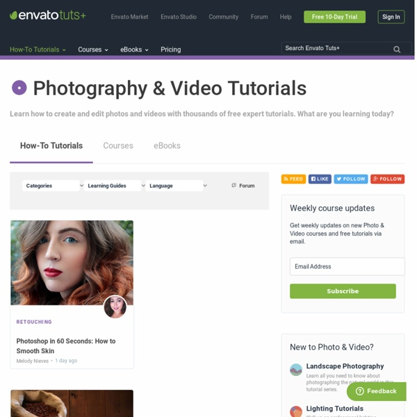 Tuts+ Free Photo & Video Tutorials