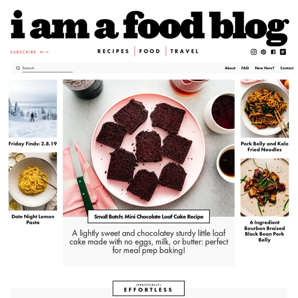 I am a food blog · A recipe blog by Stephanie Le featuring fun and easy comfort food, delicious photography and the occasional vegetable. i am a food blog