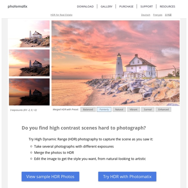 HDR photography software & plugin for Lightroom, Aperture & Photoshop - Tone Mapping, Exposure Fusion & High Dynamic Range Imaging for photography