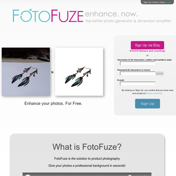 FotoFuze.com is Photography Fused Together - The Picture Revolution