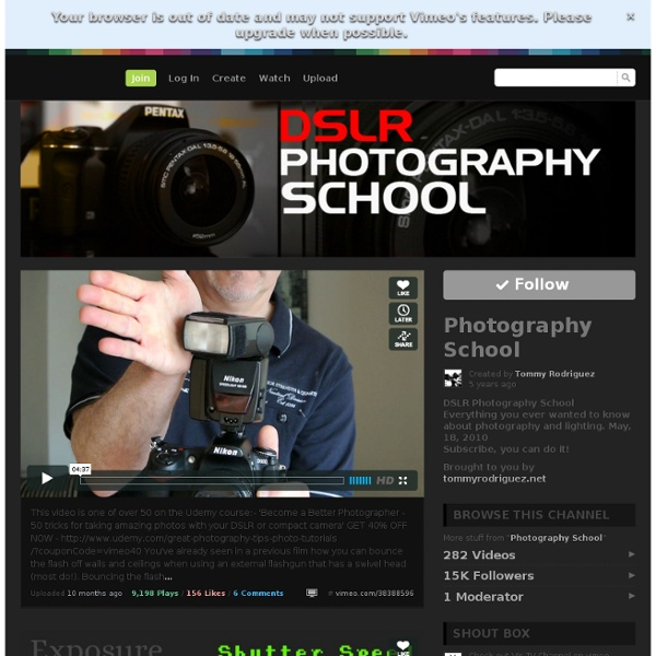 Photography School on Vimeo