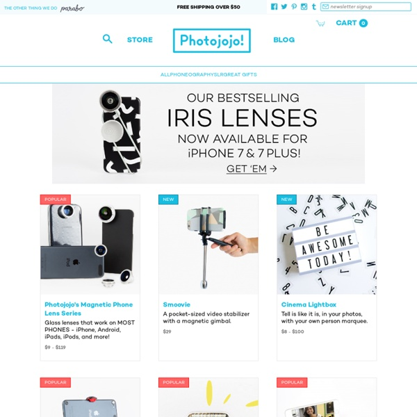 The Photojojo Store ❤ the Most Awesome Photo Gifts and Gear for Photographers