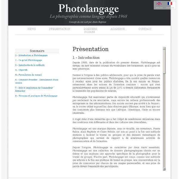 Photolangage Comment procéder