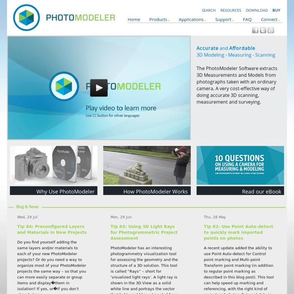 Close-range photogrammetry and image-based modeling