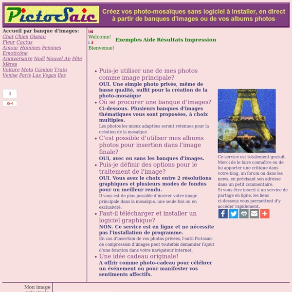 Montage de photomosaïques sans logiciel à télécharger /v.11/2011