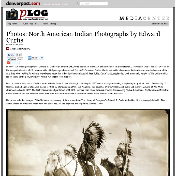 Photographs of Native Americans by Edward Curtis