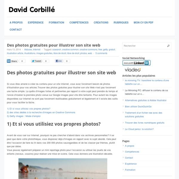 Des photos gratuites pour illustrer son site Web