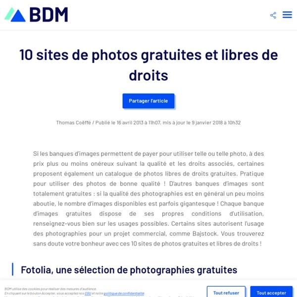 10 sites de photos gratuites et libres de droits