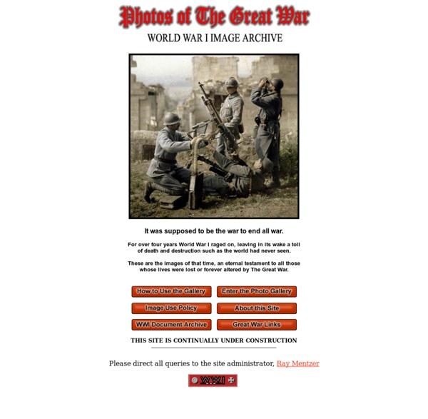 Photos of The Great War