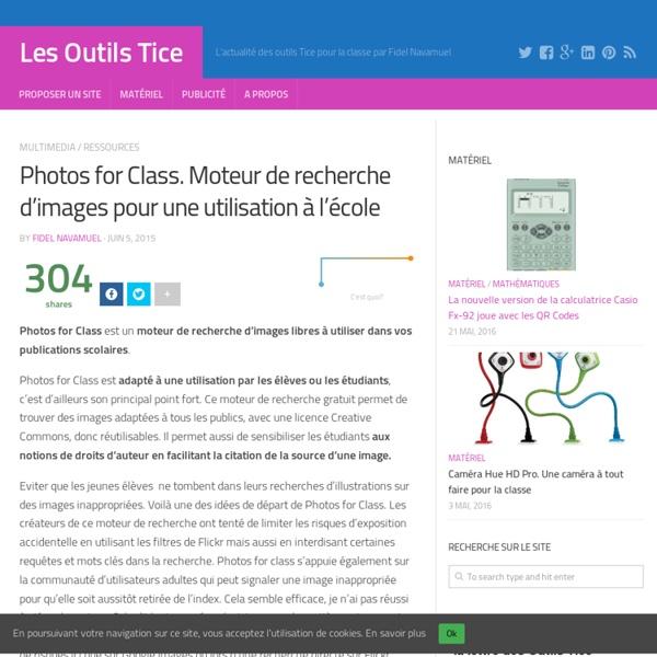 Photos for Class. Moteur de recherche d'images pour une utilisation à l'école