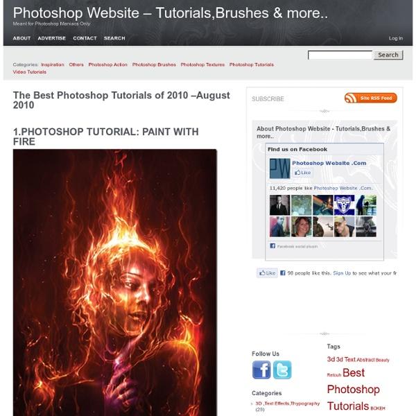 The Best Photoshop Tutorials of 2010 –August 2010