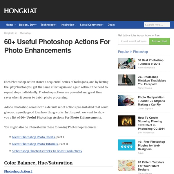 60+ Useful Photoshop Actions For Photo Enhancements