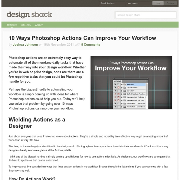 10 Ways Photoshop Actions Can Improve Your Workflow