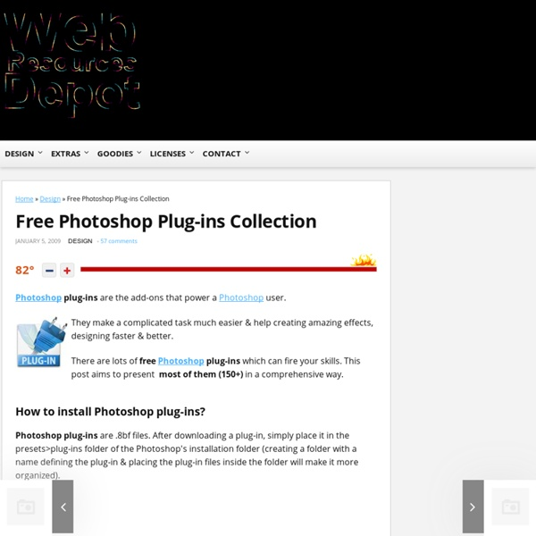 Free Photoshop Plug-ins Collection
