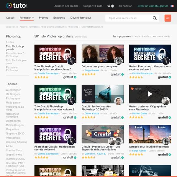 TUTO Photoshop gratuit, formations Photoshop gratuite sur TUTO.COM
