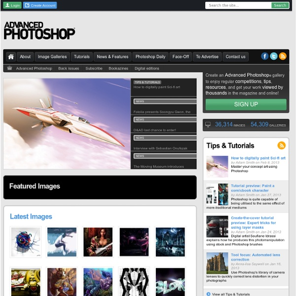 Advanced Photoshop - Photoshop Galleries, Tutorials, Reviews & Advice