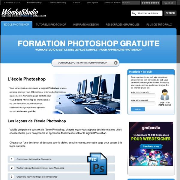 L'école Photoshop Tous les tutoriaux pour apprendre Photoshop gratuitement