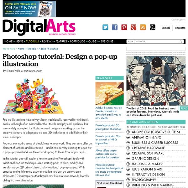 Photoshop tutorial: Design a pop-up illustration