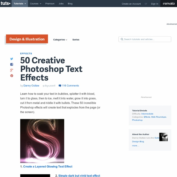 50 Creative Photoshop Text Effects