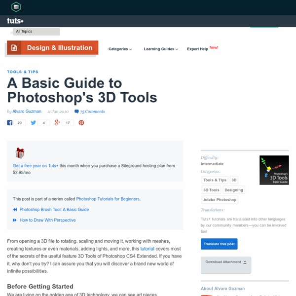 A Basic Guide to Photoshop's 3D Tools