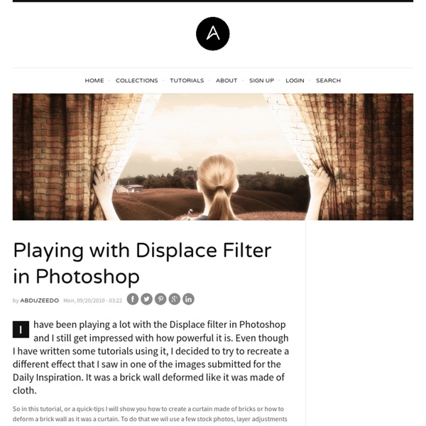 Playing-displace-filter-photoshop from abduzeedo.com - StumbleUpon