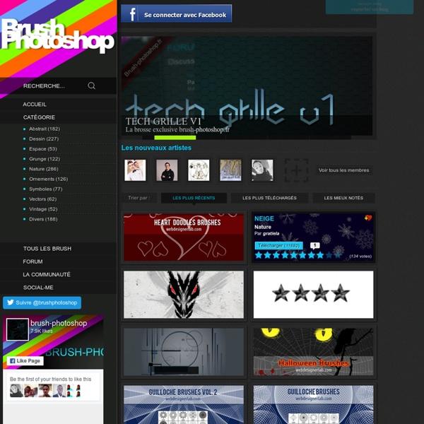 Brush photoshop, les meilleurs brushes gratuits du web