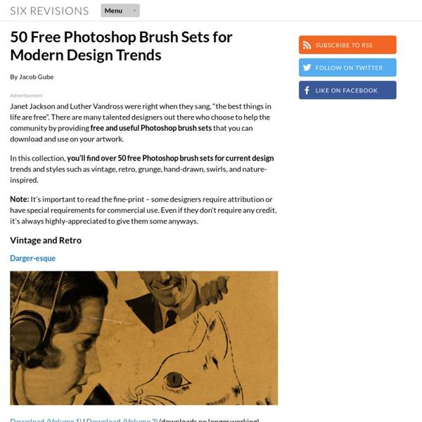 50 Free Photoshop Brush Sets for Modern Design