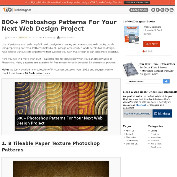800+ Photoshop Patterns For Your Next Web Design Project