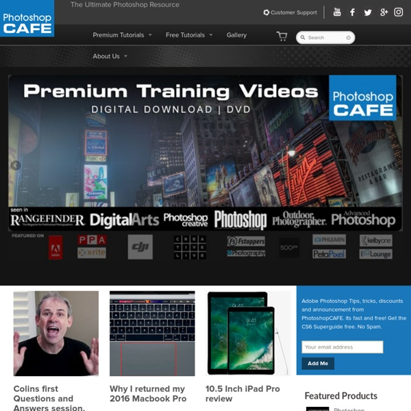 Adobe Photoshop tutorials and learning for photographers and designers