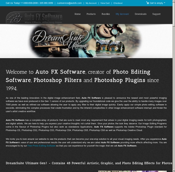 Auto FX Software : Photoshop Plug-in Filters