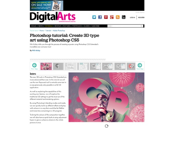 Photoshop tutorial: Create 3D type art using Photoshop CS5