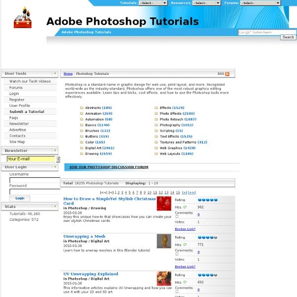 Adobe Photoshop Tutorials