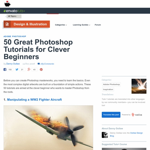 50 Great Photoshop Tutorials for Clever Beginners