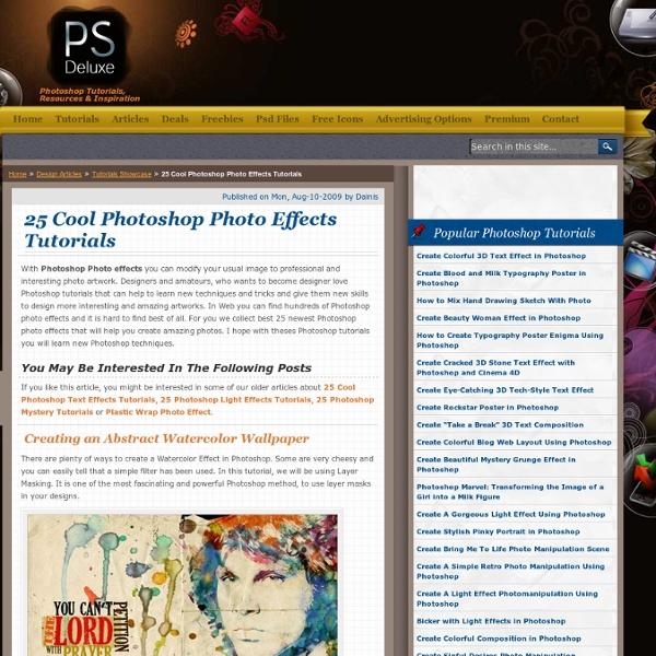 25 Cool Photoshop Photo Effects Tutorials