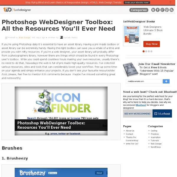 Photoshop WebDesigner Toolbox: Resources You'll Ever Need