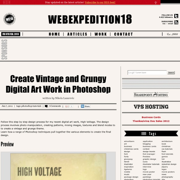 Create Vintage and Grungy Digital Art Work in Photoshop