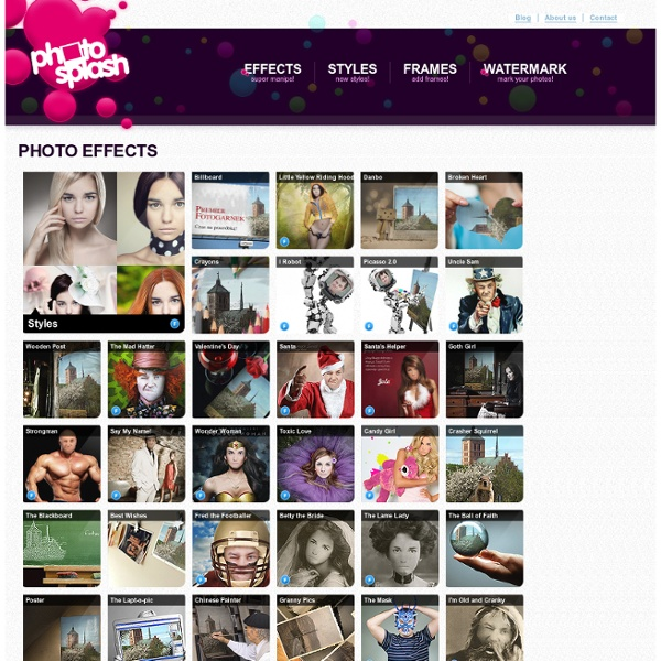 PhotoSplash.net - photo effects, face recognition, image effects