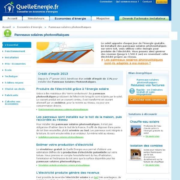 panneau solaire photovoltaique fonctionnement installation prix economies ecologique. Black Bedroom Furniture Sets. Home Design Ideas
