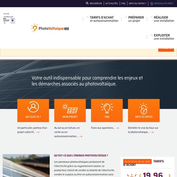 Photovoltaique.info - Le Centre de Ressources Photovoltaïque