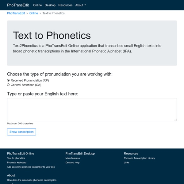 English Phonetic Transcription Text To Phonetics Pearltrees