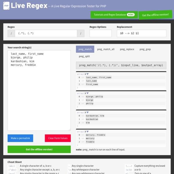 PHP Live Regex