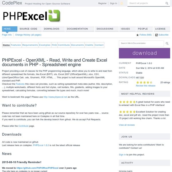 PHPExcel