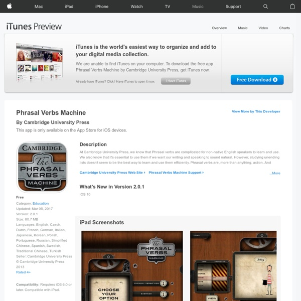 Phrasal Verbs Machine on the App Store